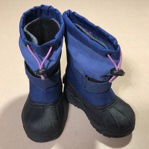 Columbia   Girls Blue Pink Waterproof Snow Boots